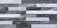 3D микс декор Bergamo черный, 30x60, холодная гамма