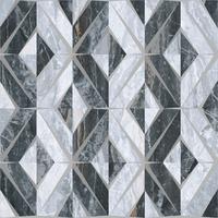 Геометрический микс декор Bergamo 60x60 холодная  гамма