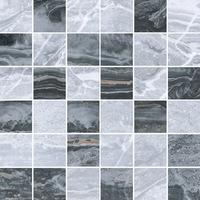 Мозаика Bergamo серо-черный микс 5х5 см, сетка 30х30 см
