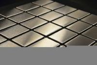 Мозаика из нержавеющей стали, 290х300х3 мм, чип 38x59x3 мм