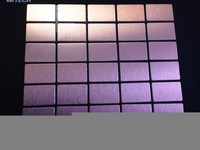 Мозаика из алюминия с напылением меди, 290х300х3 мм, чип 38x59x3 мм