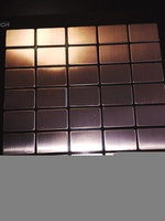 Мозаика из меди Cu-DHP, 290х300х3 мм, чип 38x59x3 мм