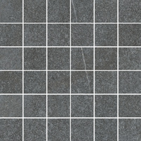 Napoli мозаика антрацит 5х5 (сетка 297х297 мм)